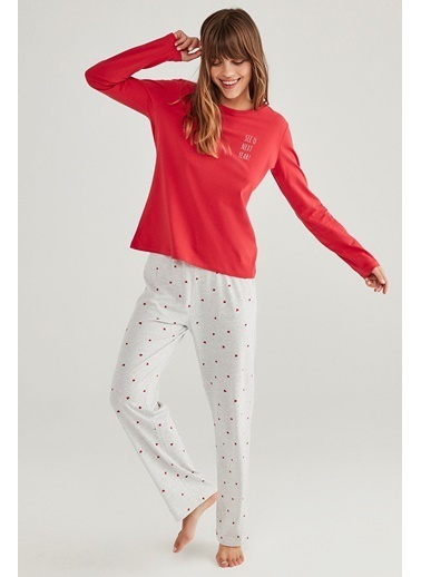 Penti Base Hearts Pijama Takımı Renkli